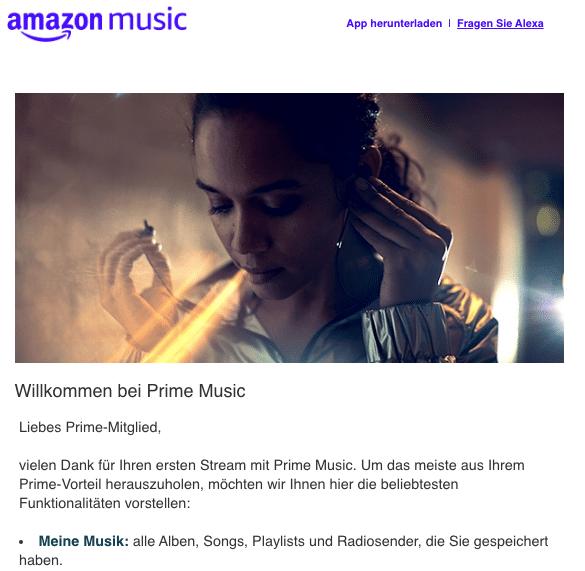 Amazon Music E-Mail