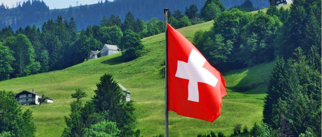 Schweiz Flagge Symbolbild