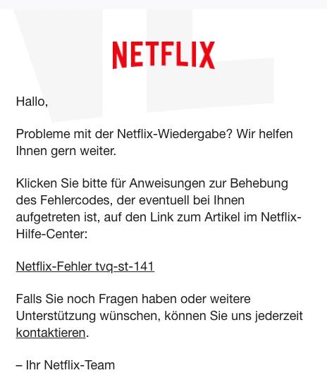 2020-06-08 Netflix E-Mail Netflix-Hilfe- Probleme mit der Netflix-Wiedergabe