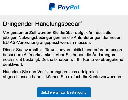 2020-06-11 PayPal Fake-Mail Spam Aenderung der Nutzungsbedingungen