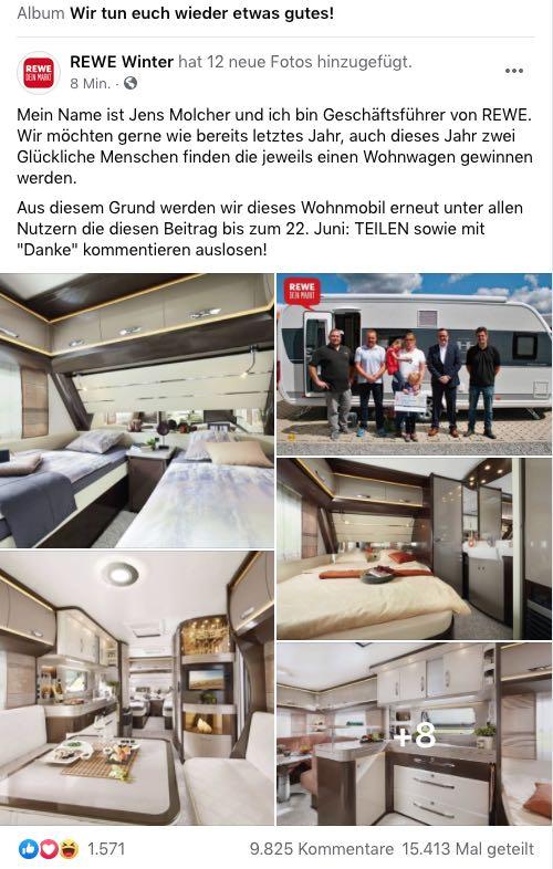2020-06-15 Facebook Fake-Gewinnspiel REWE Wohnmobil
