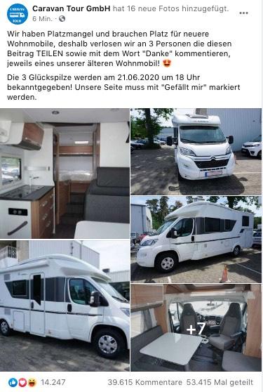 2020-06-16 Facebook Fake-Gewinnspiel Wohnmobile