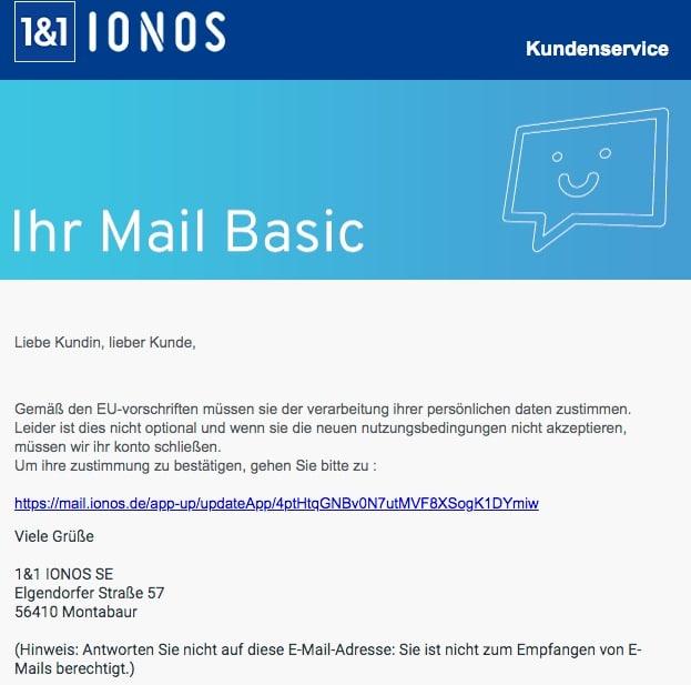 2020-06-16 IONOS Fake-Mail Ihres 11 IONOS WebMail wird deaktiviert