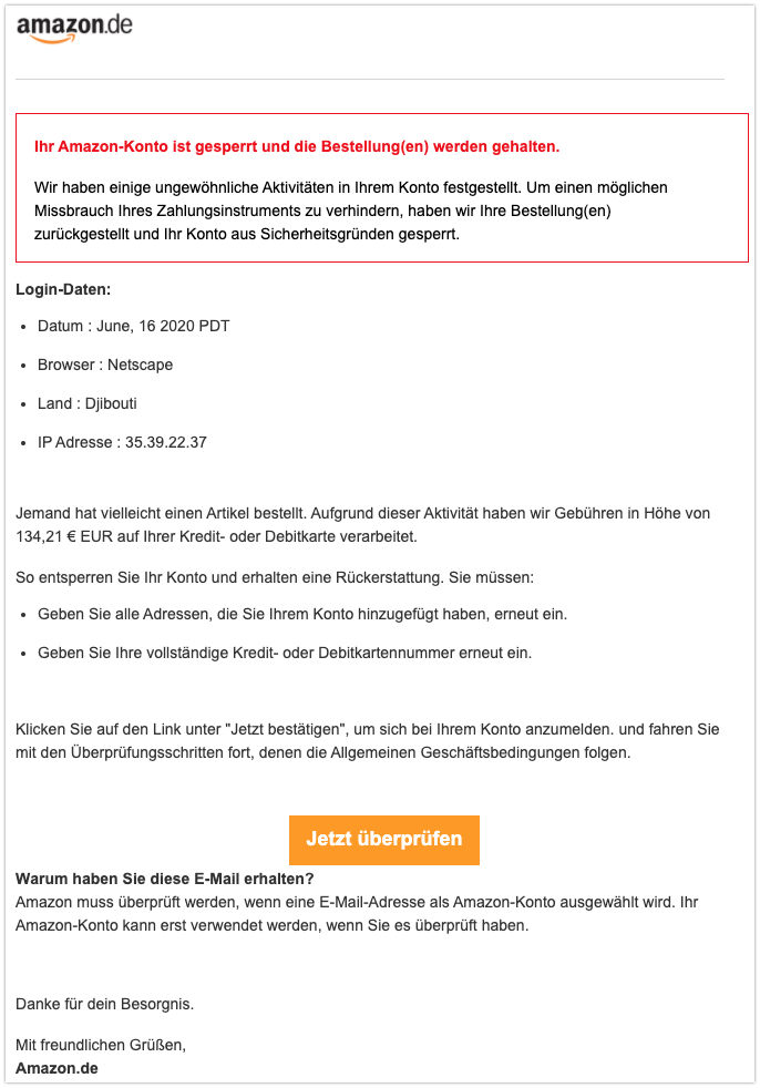 2020-06-17 Phishing amazon