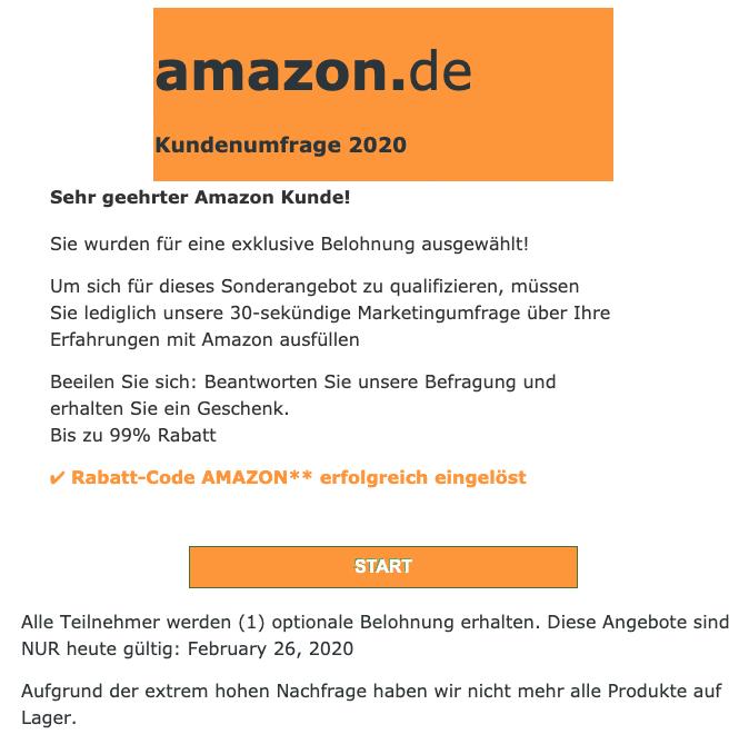 2020-06-24 Amazon Spam-Mail danke hoffentlich freuen Sie sich ueber die Ueberraschung