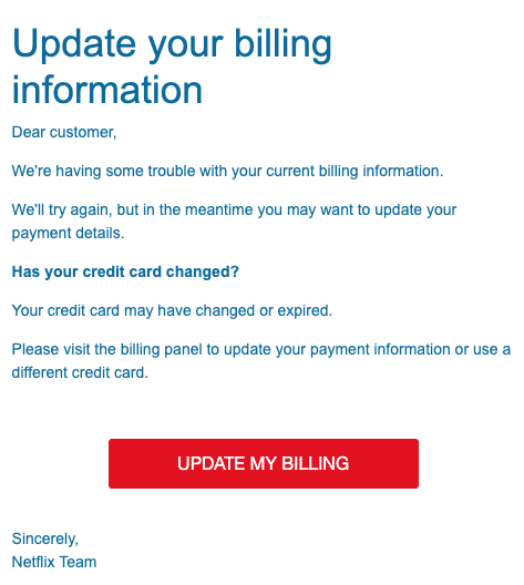 2020-06-25 Netflix Spam-Mail Your subscription is on hold