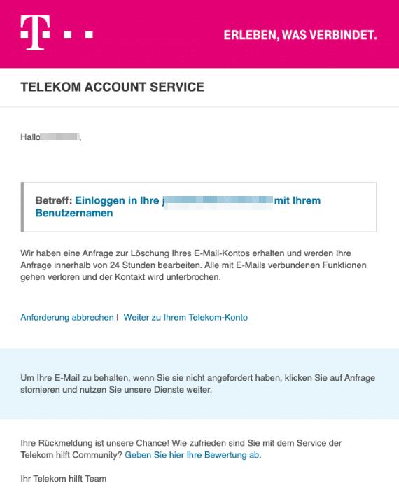 2020-06-25 Telekom Spam-Mail T-Online-Account Warnung E2