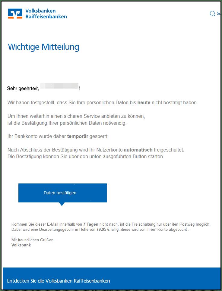2020-06-29 Phishing Raiffeisen Volksbanken