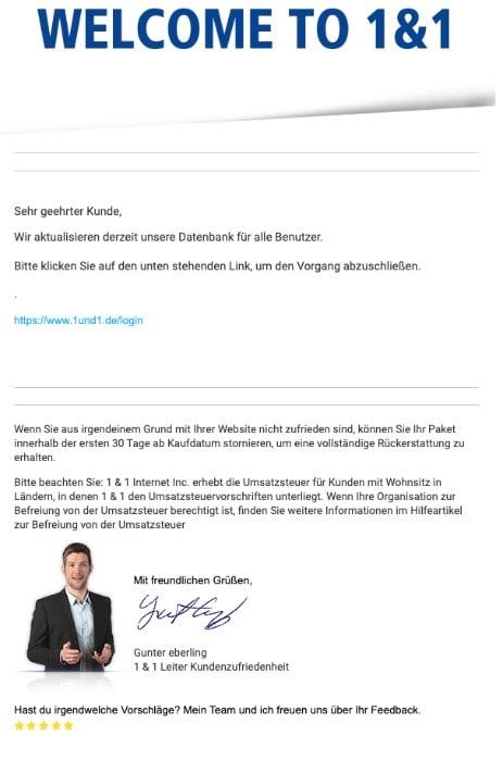 2020-07-01 1und1 IONOS SPam Fake-Mail Neue Nachricht
