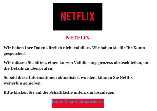 2020-07-27 Netflix Spam-Mail Ihre Netflix-Mitgliedschaft wird gehalten