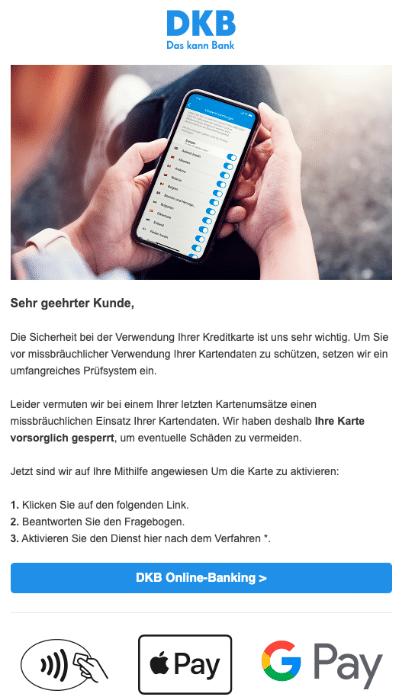 2020-07-02 DKB Spam Fake-Mail Sicherheitshinweis