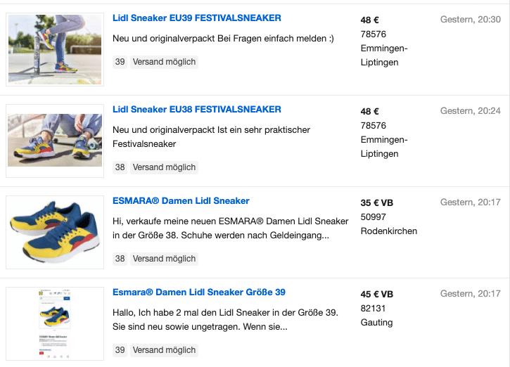 2020-07-03 ebay Kleinanzeigen Lild Sneaker Angebote