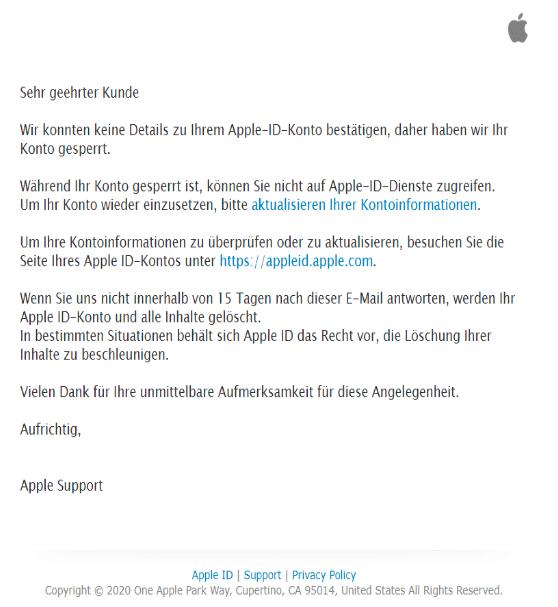 2020-07-05 iCloud Phishing