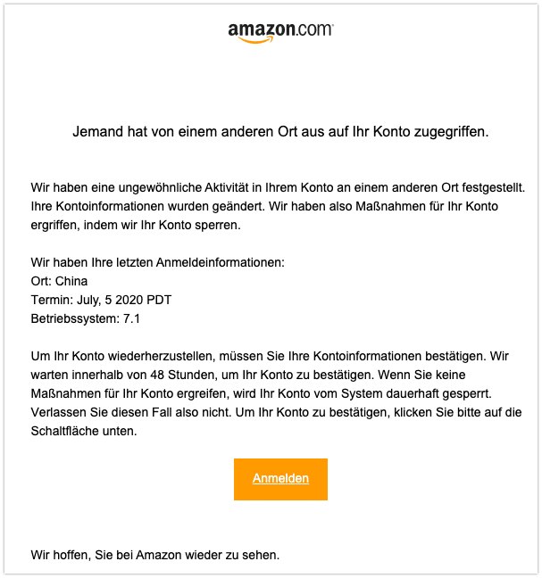 2020-07-10 Phishing Amazon