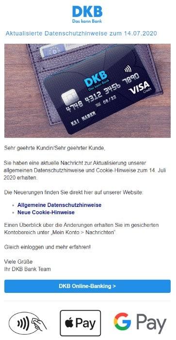 2020-07-15 DKB Spam-Mail Fake Aktualisierte Datenschutzhinweise