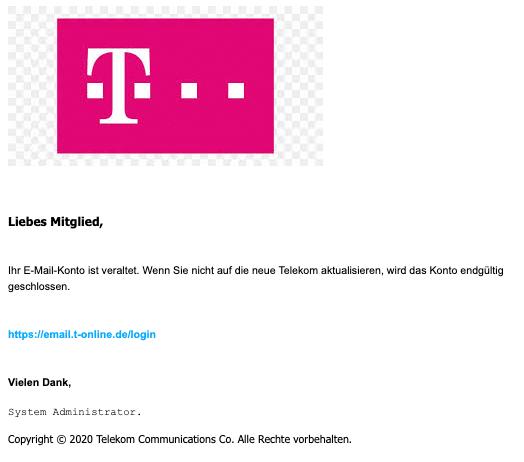 2020-07-21 Telekom Spam Fake-Mail Das neue T-Online