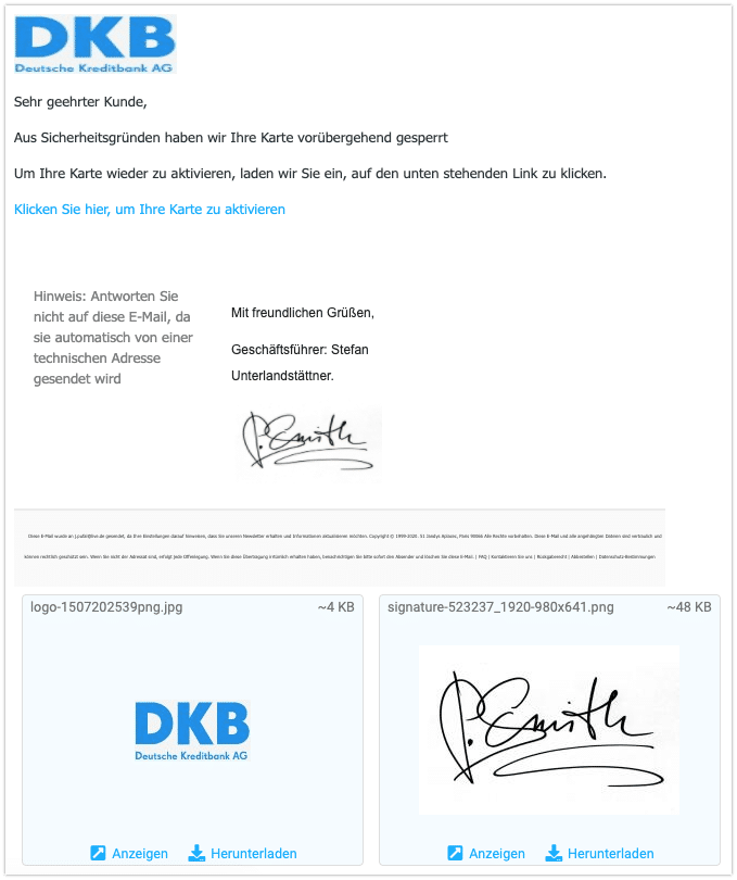 2020-07-27 Phishing DKB 1