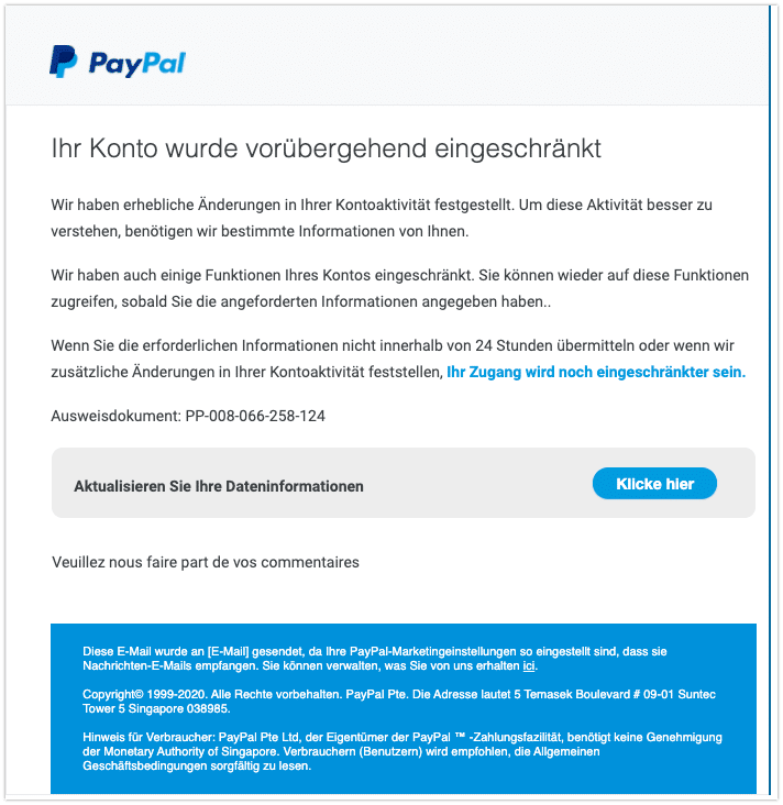 2020-07-28 Phishing PayPal