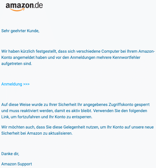2020-07-31 Amazon Spam Fake-Mail
