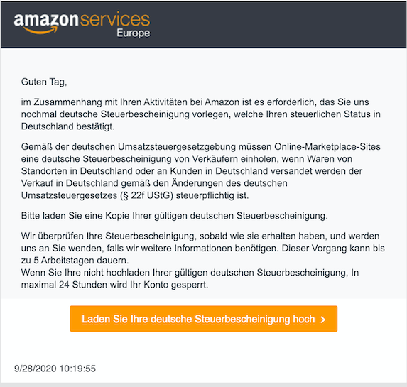 2020-09-28 Amazon seller Phishing