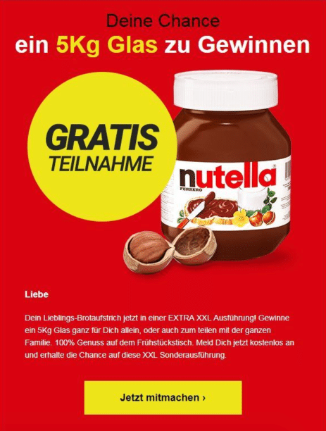 2020-12-25 Nutella Glas gewinnen