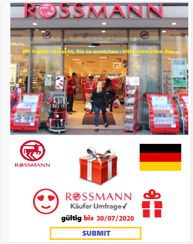 Rossmann Mail Spam