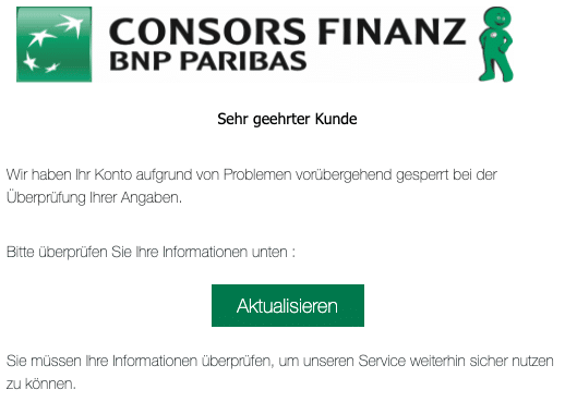 2020-08-04 Consorsfinanz Spam Fake-Mail Konto gesperrt