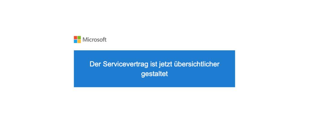 2020-08-06 Microsoft E-Mail Aenderungen an unseren Nutzungsbedingungen