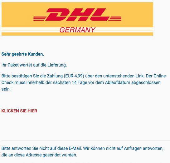 2020-08-09 DHL Spam-Fake-Mail ihr paket steht noch aus!