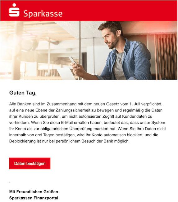 2020-08-11 Phishing Sparkasse