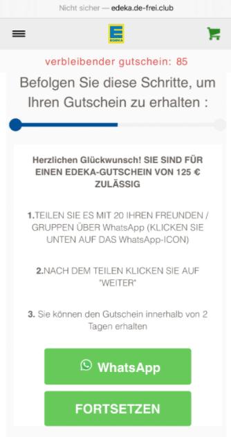 2020-08-13 WhatsApp Kettenbrief Edeka 125 Euro Gutschein 3