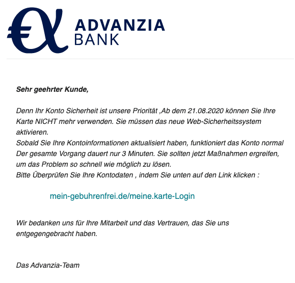 2020-08-24 Advanzia Bank Update heute