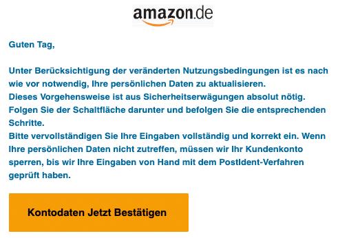 2020-08-25 Amazon Spam Fake-Mail Wichtige Nachricht bzgl Ihres Kontos