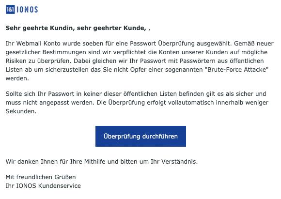 2020-08-27 1und1 IONOS Fake-Mail Ihr Konto ist eventuell gefährdet