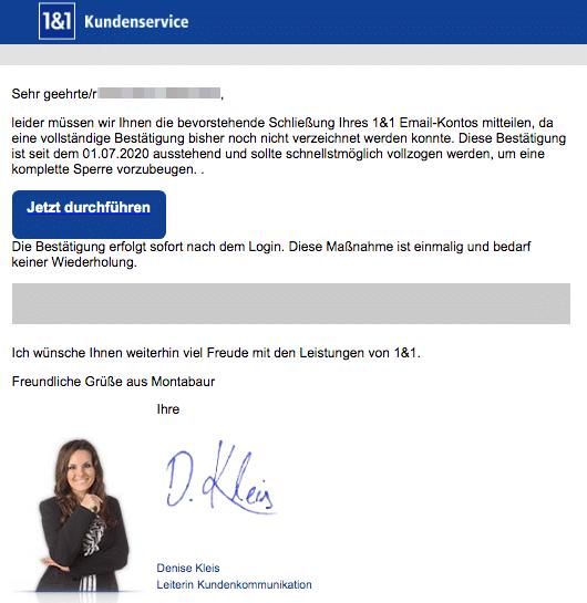 2020-08-28 1und1 IONOS Spam-Mail Sperrung Ihres 1und1 Mail Kontos