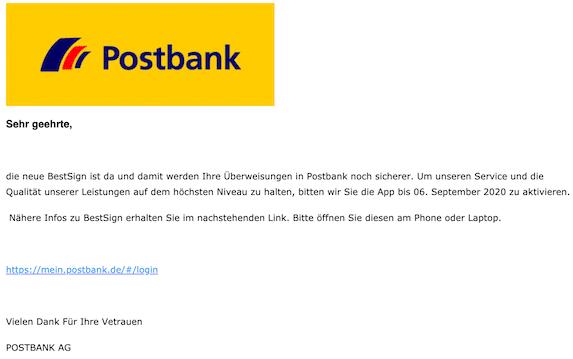 2020-08-31 Phishing Postbank