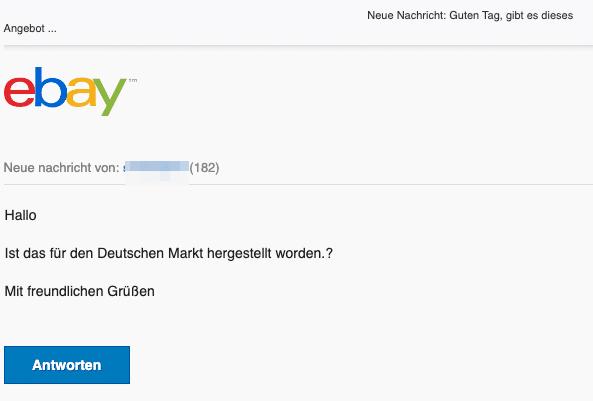 2020-09-22 ebay Spam Fake E-Mail Nachricht gesendet