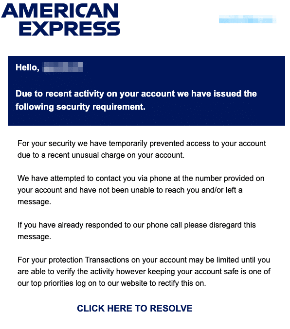 2020-10-14 American Express Spam-Mail Fake