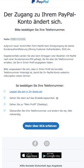 PayPal Spam