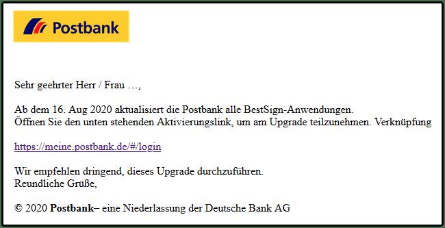 2020-09-08 Phishing Postbank