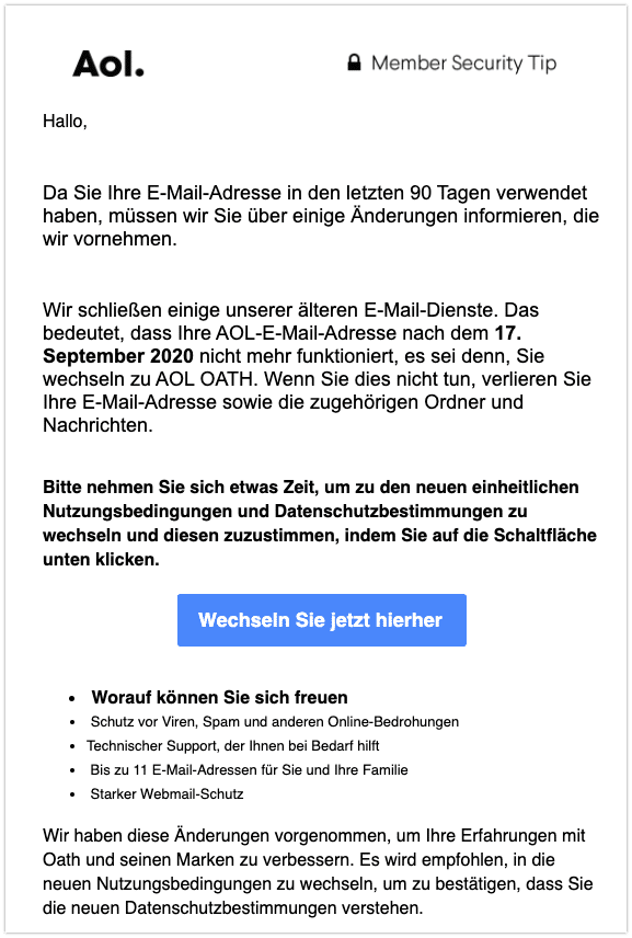 2020-09-14 Phishing AOL