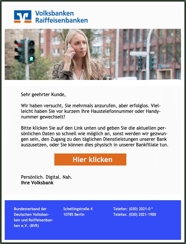 2020-09-17 Phishing Volksbank
