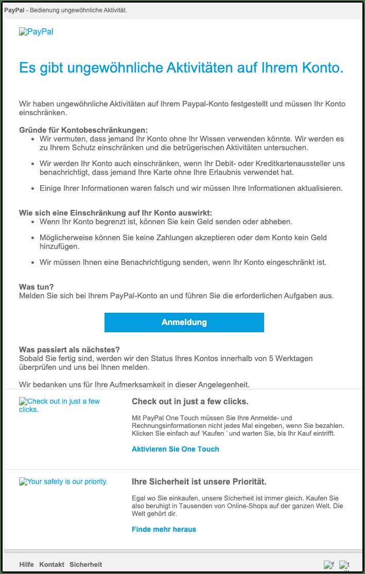 2020-09-18 Phishing PayPal 1