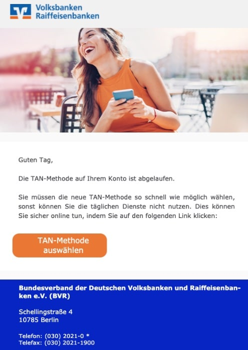 2020-09-25 Volksbank SPam Fake-Mail Volksbank eG