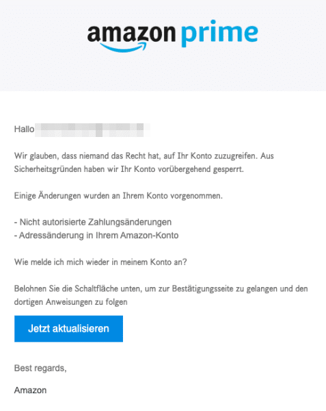 2020-09-28 Amazon Spam-Mail Amazon Prime