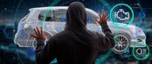 Auto Vernetzung Hacker Symbolbild