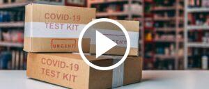Corona Test-Kit COVID-19 Symbolbild Video