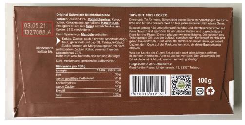 Rueckruf Schokolade MHD