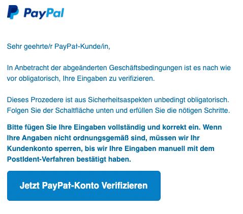 2020-10-02 PayPal Fake-Mail Spam Bestaetigen Sie Ihr PayPaƚ-Konto