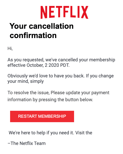 2020-10-05 Netflix Spam-Mail Fake To continue your payment information